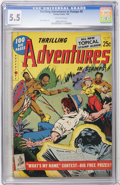 Golden Age (1938-1955):Miscellaneous, Thrilling Adventures in Stamps #8 (Stamp Comics, 1953) CGC FN- 5.5 Off-white pages....