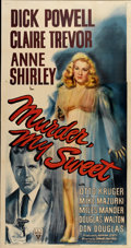 "Movie Posters:Film Noir, Murder, My Sweet (RKO, 1944). Three Sheet (41"" X 81"")...."