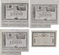 Confederate Notes:Group Lots, Ball 200; 201; 209; 241 Cr. 125B; 125; 125A; 126 $1000 Bonds. Threeof these bonds grade VF with minor ailments includin... (Total: 4notes)