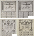 Confederate Notes:Group Lots, Ball 165; 166; 191; 192 Cr. 123; 123A; 124; 124A $100; $100; $500;$500 Bonds 1863. All four of these once mounted bonds gra...(Total: 4 items)