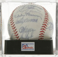Autographs:Baseballs, 1990 Los Angeles Dodgers Team Signed Baseball, PSA NM-MT 8. Dodgerssouvenir baseball offered here acts as a canvas for sig...