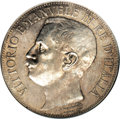 Italy: , Italy: Vittorio Emanuele III silver 5-Lire 1911-R, KM-53, MS63 NGC,even and light golden gray toning, subdued luster but few abras...
