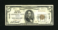 National Bank Notes:Missouri, Jefferson City, MO - $5 1929 Ty. 1 The Exchange NB Ch. # 13142.State capitol notes are always in demand and this one fr...