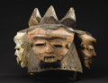 African: , Pende (Democratic Republic of Congo). Ginzengi Mask. Wood, pigment,fiber. Height: 13 ½ inches Width: 18 inches Depth:16 i...