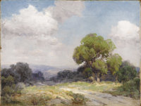 JULIAN ONDERDONK (1882-1922) Morning in the Hills Southwest Texas Oil on canvas 12in. x 16in. Signed lower left Sig