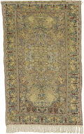 Rugs & Textiles:Carpets, A Silk Kayseri Prayer Rug. Central Anatolia. Circa 1900. Wool,silk. 81.5 inches x 50.75 inches. ...