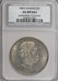 Coins of Hawaii: , 1883 $1 Hawaii Dollar--Improperly Cleaned--NCS. AU Details. NGCCensus: (20/141). PCGS Population (49/172). Mintage: 500,00...