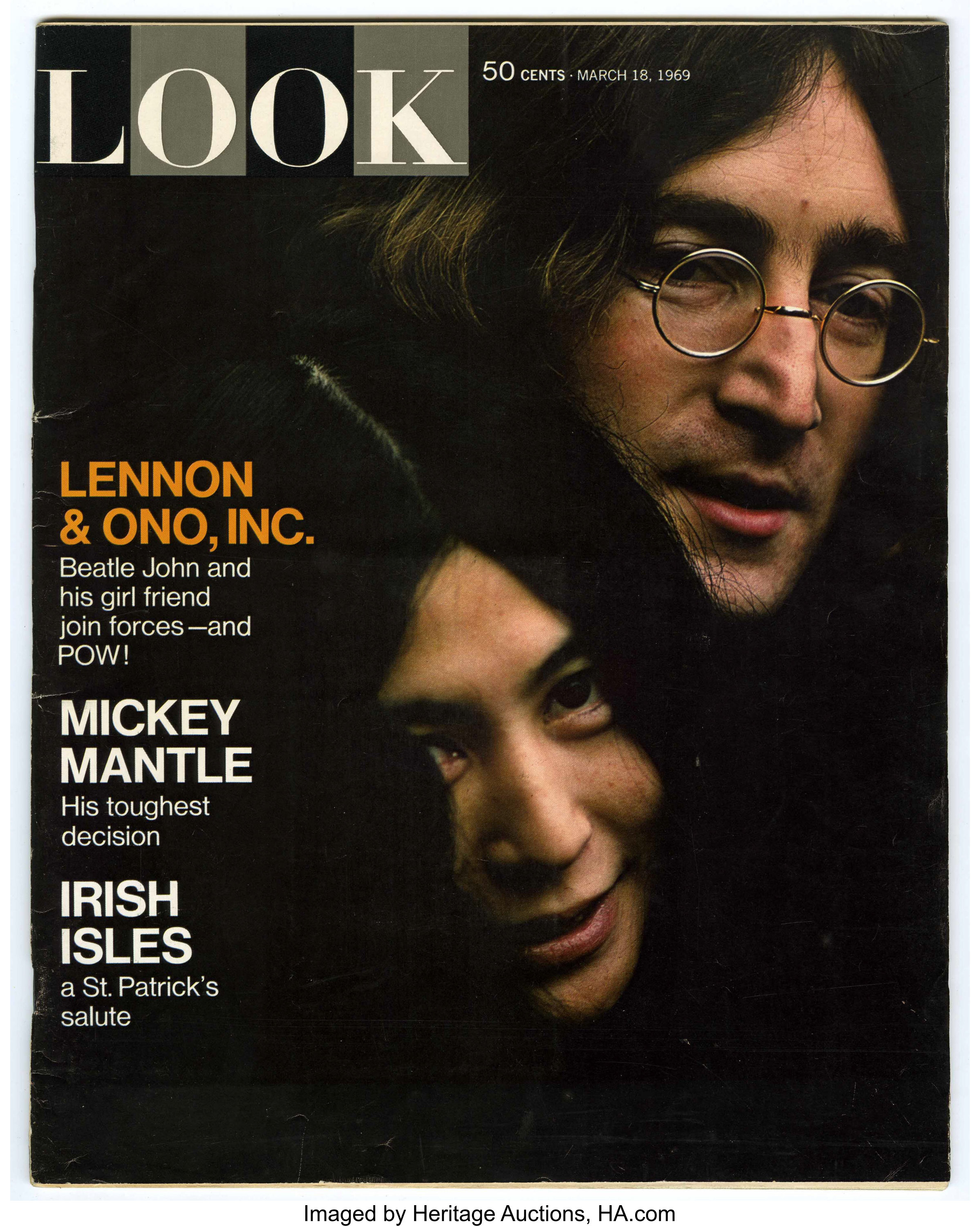 John Lennon And Yoko Ono Cover Look Magazine Cowles Lot 14750 Heritage Auctions