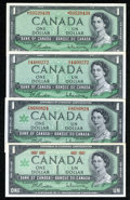 Canadian Currency: , $1 Canadian Notes including BC-37a, BC-37bA, BC-45a, BC-45b-i.About Uncirculated. . ... (Total: 4 notes)