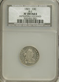 Early Dimes, 1801 10C --Improperly Cleaned--NCS. XF Details....