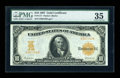 Large Size:Gold Certificates, Fr. 1171 $10 1907 Gold Certificate PMG Choice Very Fine 35....