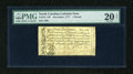 Colonial Notes:North Carolina, North Carolina December, 1771 £1 PMG Very Fine Net 20....