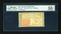 Colonial Notes:New Jersey, New Jersey March 25, 1776 3s PMG About Uncirculated 55 EPQ....