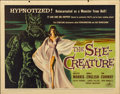 """Movie Posters:Science Fiction, The She-Creature (American International, 1956). Half Sheet (22"""" X28"""")...."""
