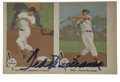 Autographs:Sports Cards, Ted Williams 1959 Fleer Signed Strip....
