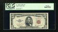 Small Size:Legal Tender Notes, Fr. 1535* $5 1953C Legal Tender Star Note. PCGS Gem New 66PPQ.. ...