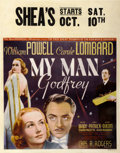 "Movie Posters:Comedy, My Man Godfrey (Universal, 1936). Jumbo Window Card (22"" X 28"")...."