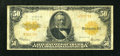 Large Size:Gold Certificates, Fr. 1200a $50 1922 Mule Gold Certificate Very Good-Fine....