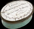Political:3D & Other Display (pre-1896), George Washington: Very Rare Battersea Enameled Box....