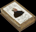 Political:3D & Other Display (pre-1896), Zachary Taylor: Colorful Forget-Me-Not Type of Box with HisPortrait....