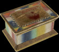 Political:3D & Other Display (pre-1896), Andrew Jackson: Colorful Sewing Box, the Mate to the Preceding JohnQuincy Adams Box...
