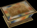 Political:3D & Other Display (pre-1896), John Quincy Adams: Colorful Circa 1828 Sewing Box with His Portrait....