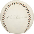 "Autographs:Baseballs, Circa 1920 Grover Cleveland Alexander Signed Baseball. The slanted""Cork Center"" words that frame the Official National Leag..."