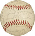 Autographs:Baseballs, 1941 New York Yankees World Champions Team Signed Baseball. Signedat a 25th anniversary event for the 1941 World Series wi...