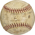 Autographs:Bats, 1936 New York Yankees World Champion Team Signed Baseball. In theyears following Babe Ruth's departure from the New York Y...