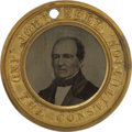 Political:Ferrotypes / Photo Badges (pre-1896), Bell & Everett: Pristine 1860 Ferrotype. 29mm. A virtuallyunimprovable example with flawless ferro surfaces and full or...