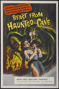 "Movie Posters:Science Fiction, Beast from Haunted Cave (Film Group, 1959). One Sheet (27"" X 41"").Science Fiction...."