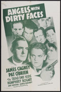 "Movie Posters:Crime, Angels With Dirty Faces (Dominant Pictures, R-1956). One Sheet (27""X 41""). Crime...."