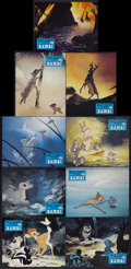 "Movie Posters:Animated, Bambi (Buena Vista, R-1970s). French Lobby Card Set of 9 (9.25"" X 11.75"") Series A. Animated.... (Total: 9 Items)"