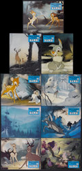 "Movie Posters:Animated, Bambi (Buena Vista, R-1970s). French Lobby Card Set of 9 (9.25"" X11.75"") Series B. Animated.... (Total: 9 Items)"