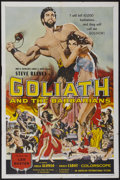 "Movie Posters:Adventure, Goliath and the Barbarians (American International, 1959). OneSheet (27"" X 41""). Adventure...."