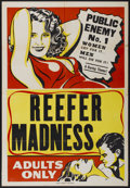 "Movie Posters:Cult Classic, Reefer Madness (Motion Picture Ventures, R-1950s). One Sheet (28"" X41""). Cult Classic...."