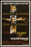 "Movie Posters:James Bond, Goldfinger (United Artists, 1964). One Sheet (27"" X 41""). JamesBond...."