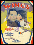 "Movie Posters:Academy Award Winner, Wings (Paramount, 1927). Sheet Music (9"" X 12""). Academy Award Winner...."