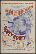 "Movie Posters:Sexploitation, Hurly Burly (Cinetech, 1950s). One Sheet (27"" X 41"").Sexploitation...."