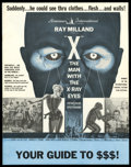 Movie Posters:Science Fiction, X-The Man With the X-Ray Eyes (American International, 1963). Pressbook (Multiple Pages). Science Fiction....