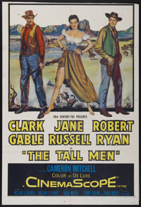 "The Tall Men (20th Century Fox, 1955). One Sheet (27"" X 39.5""). Western"