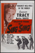 "Movie Posters:Crime, 20,000 Years in Sing Sing (Warner Brothers, R-1950s). One Sheet (27"" X 41""). Crime...."