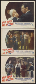 "Movie Posters:Crime, They Made Me a Killer (Paramount, 1946). Lobby Cards (3) (11"" X14""). Crime.... (Total: 3 Items)"