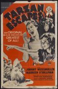 "Movie Posters:Adventure, Tarzan Escapes (MGM, R-1954). One Sheet (27"" X 41""). Adventure...."