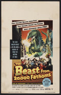 "Movie Posters:Science Fiction, The Beast from 20,000 Fathoms (Warner Brothers, 1953). Window Card(14"" X 22""). Science Fiction.. ..."
