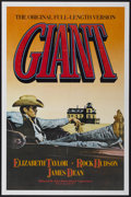 "Movie Posters:Drama, Giant (Warner Brothers, R-1982). One Sheet (27"" X 41""). Drama...."