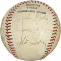 Autographs:Baseballs, 1943 Boston Red Sox Team Signed Baseball. Seventeen from the '43Red Sox have made their way to the provided orb in the for...