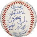 Autographs:Baseballs, 1999 New York Yankees World Champion Team Signed Baseball. A totalof 34 members of the 1999 New York Yankees have checked ...