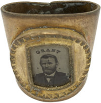 Ulysses S. Grant: Unusual Necktie Slide with Ferrotype Insert