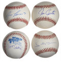 Autographs:Baseballs, Baseball All-Stars Single Signed Baseballs Lot of 4. Each of thefour singles that we make available here has been signed b...(Total: 4 items)